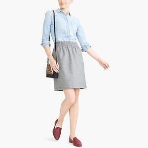J.crew wool elastic waist skirt
